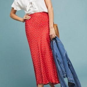 New Anthropologie Maeve Midi Skirt